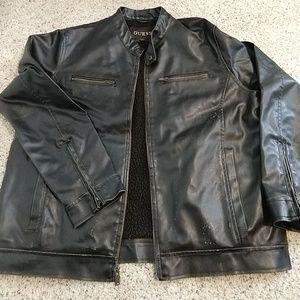 Black moto cut jacket